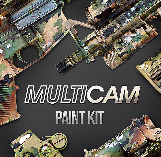 Multicamo Camouflage Stencils and Paint Kit
