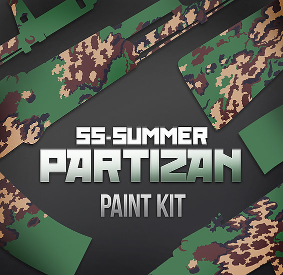 Russian Partizan Camouflage Stencils and Paint Kit