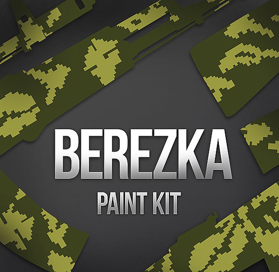 Russian Berezka Camouflage Stencils and Paint Kit