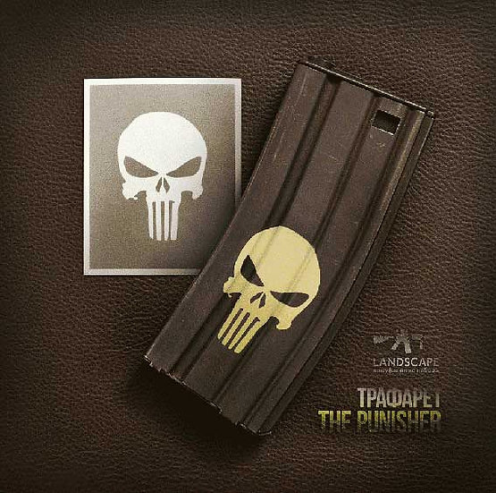 THE PUNISHER Landscape Paint stencil Package