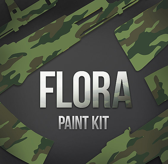 Russian Flora Camouflage Stencils and Paint Kit