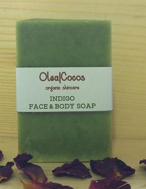 Indigo natural and organic soap Olea Cocos