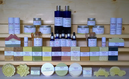 Olea|Cocos Organic Skincare display of products