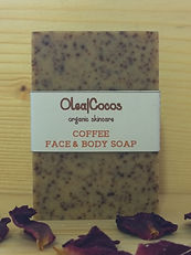 Coffee natural and organic soap