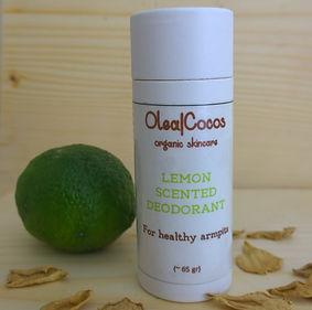 Lemon Scented Deodorant Olea|Cocos