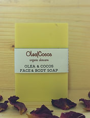 Organic olive and coconut oils soap