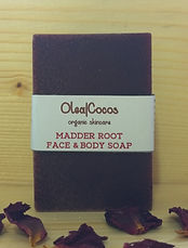 Madder root natural and organic soap