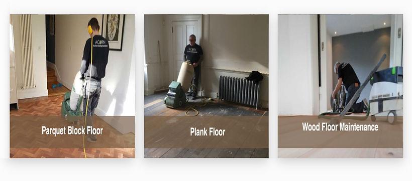 Parquet floor sanding, plank wood floor sanding, wood floor maintenance