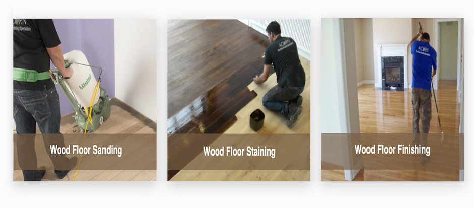 the concepts involved for sandng and finishing a wood floor