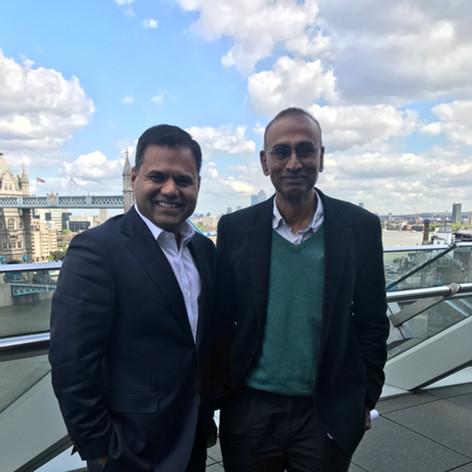 With Nobel Prize winner biologist Sir Venky Ramakrishnan