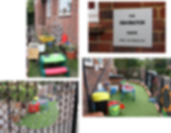 Rainbow playgroup setting Imagination Garden