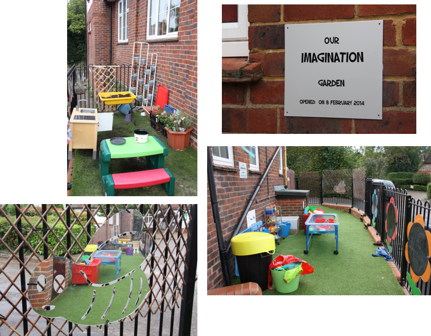 Rainbow playgroup setting Imagination Garden