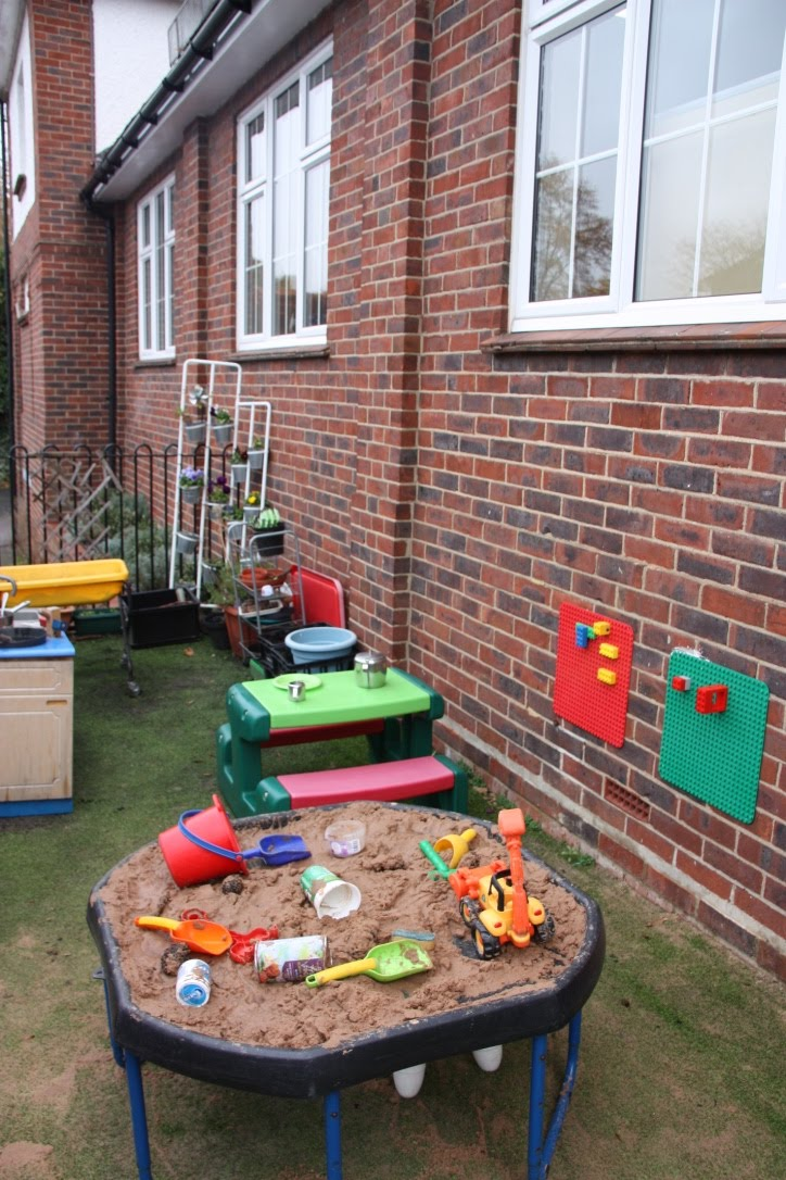 Rainbow playgroup outside area