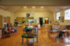 Rainbow playgroup setting