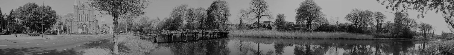 Geestersingel Alkmaar zwart wit panorama