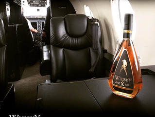 Enjoy this exclusive 'Whisky by X' while flying aboard your private jet.