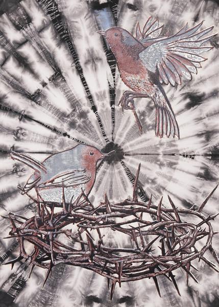 Le nid sur shibori