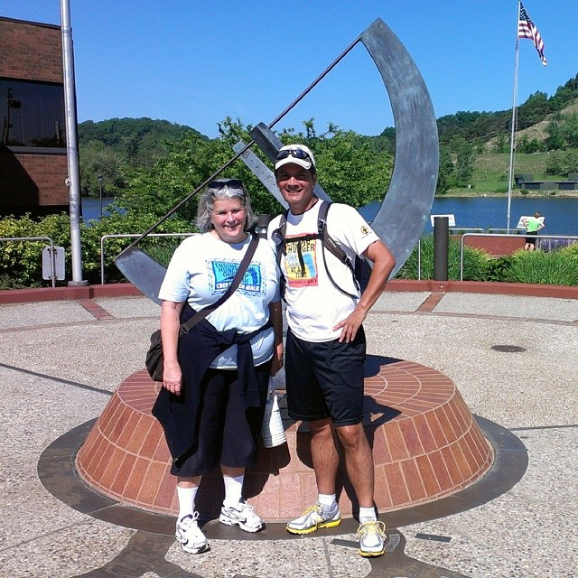 Katy Keck and I during the 100 mile hunger walk in 2014