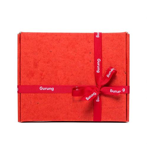 Handmade Paper Red Gift Box