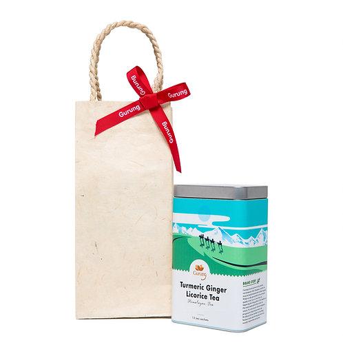 Tea in Handmade Paper Gift Bag