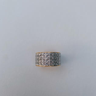 916 Gold White Ring