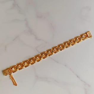 916 Gold Square Link Bracelet