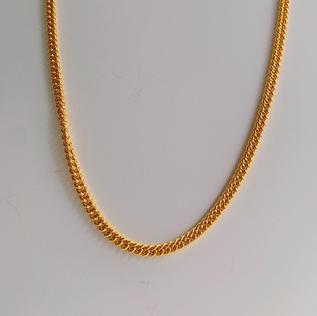 916 Gold Thin Fish Bone Necklace