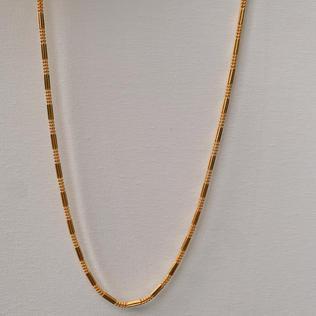 916 Gold Dot Rec Necklace
