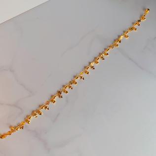 916 Gold Dangling Hearts Anklet