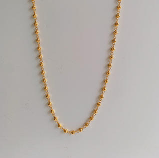 916 Gold Beads Necklace