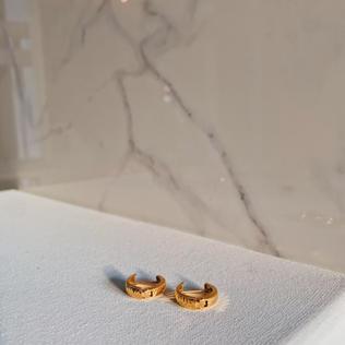 916 Gold Loop Earrings