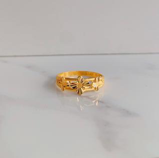916 Gold Eternal Flowers Ring