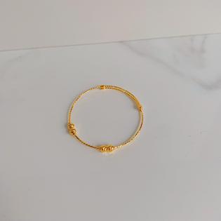 916 Gold Beads Bangle (Adjustable For Babies)