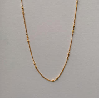 916 Gold Dot Necklace