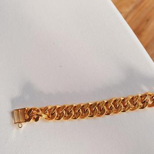 916 Gold Stamping Bracelet