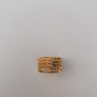 916 Gold Z Ring