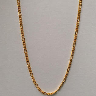 916 Gold Fish Bone Necklace