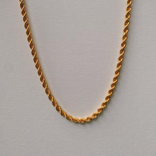 916 Gold Thick Rope Necklace