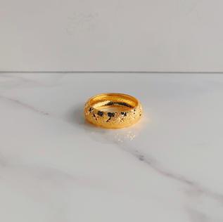 916 Gold Round Mode Band