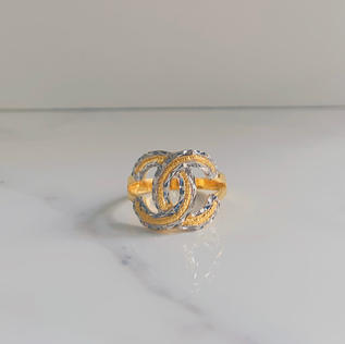 916 Gold Iconic Double C Ring