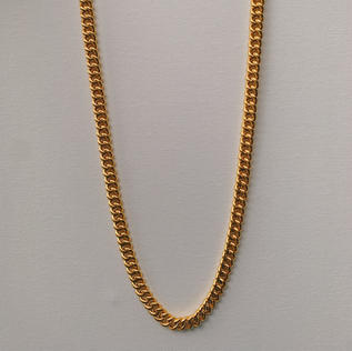 916 Gold Thick Fish Bone Necklace