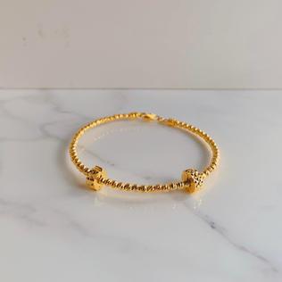 916 Gold Pandora Charm Bangle