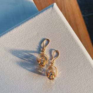 916 Gold Drop Earrings