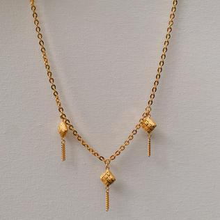 916 Gold Ketupat Necklace