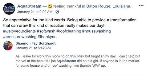 Baton Rouge Pressure washing Review