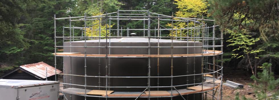 13.0518 Lake McDonald water tank Scaffol