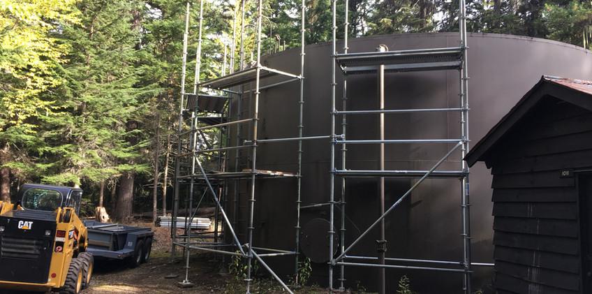 13.0518 Lake McDonald tank scaffolding e