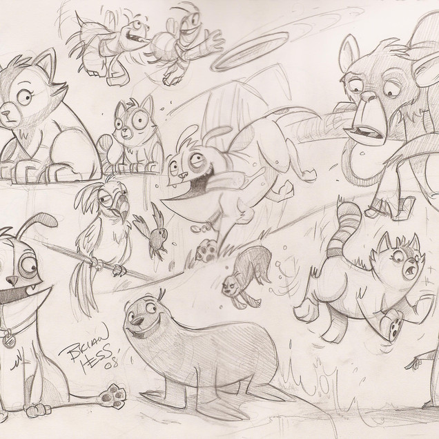 sketches from Animal House Pitch