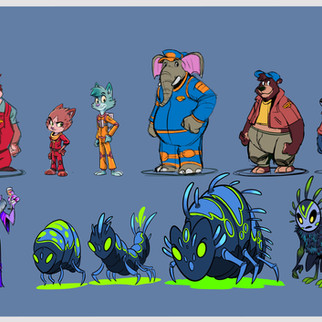 Star Light Movers character lineup
