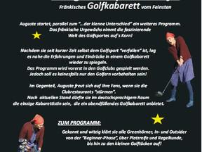 """Fränkisches Golfkabarett """"Auguste spielt Golf"""" am 07. März 2018"""
